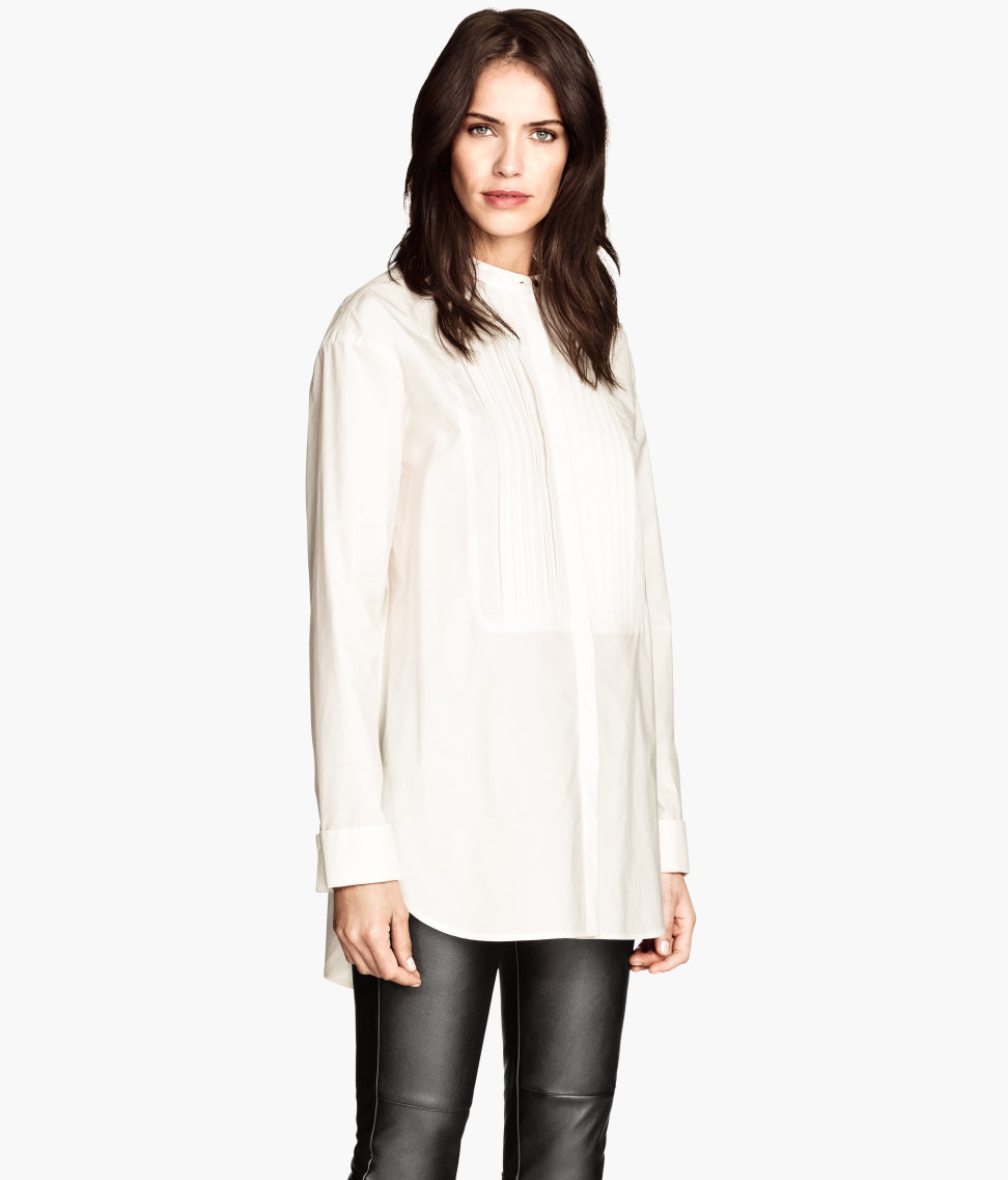 Oversized Blouse | White | Women | H&M US