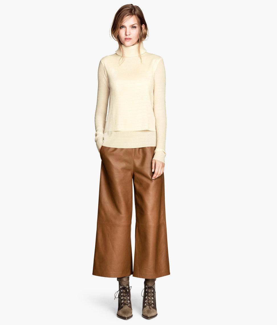 Wide-leg Pants | Tawny /leather | Ladies | H&M US