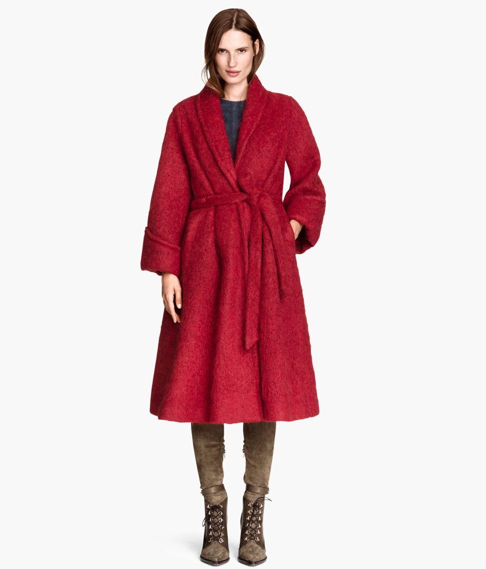 Oversized Wool-blend Coat | Red | SALE | H&M US