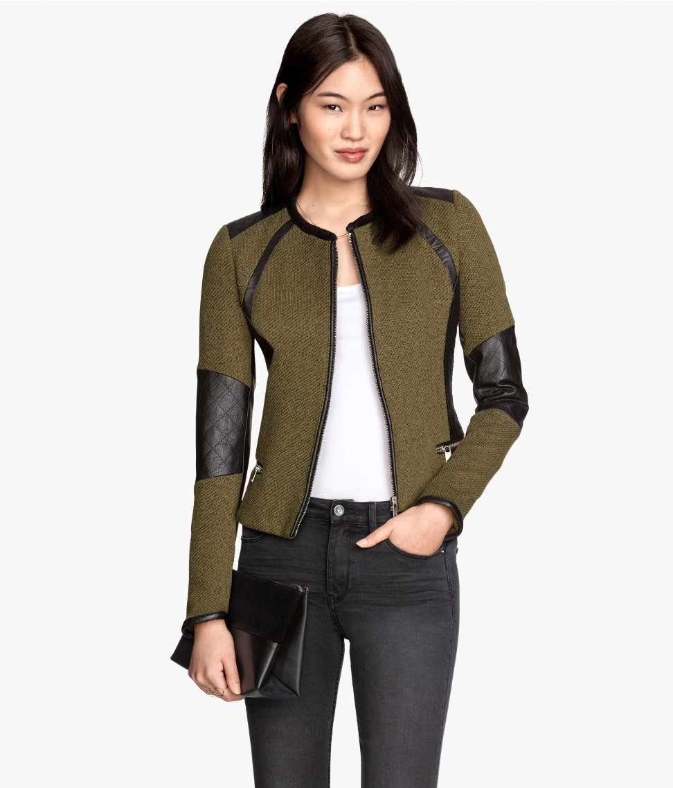 Fitted Jacket | Khaki green | Women | H&M US