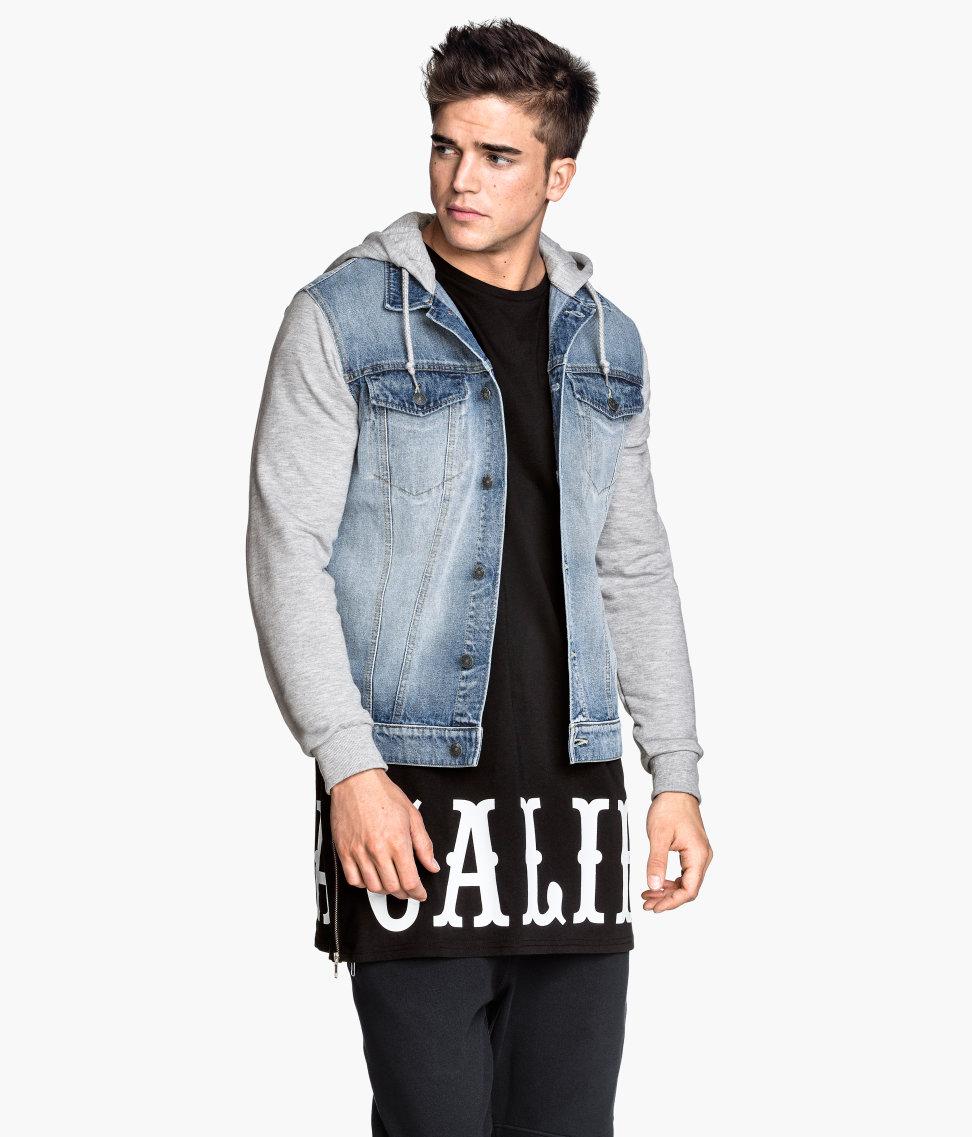 Hooded Denim Jacket | Denim blue | Men | H&M US