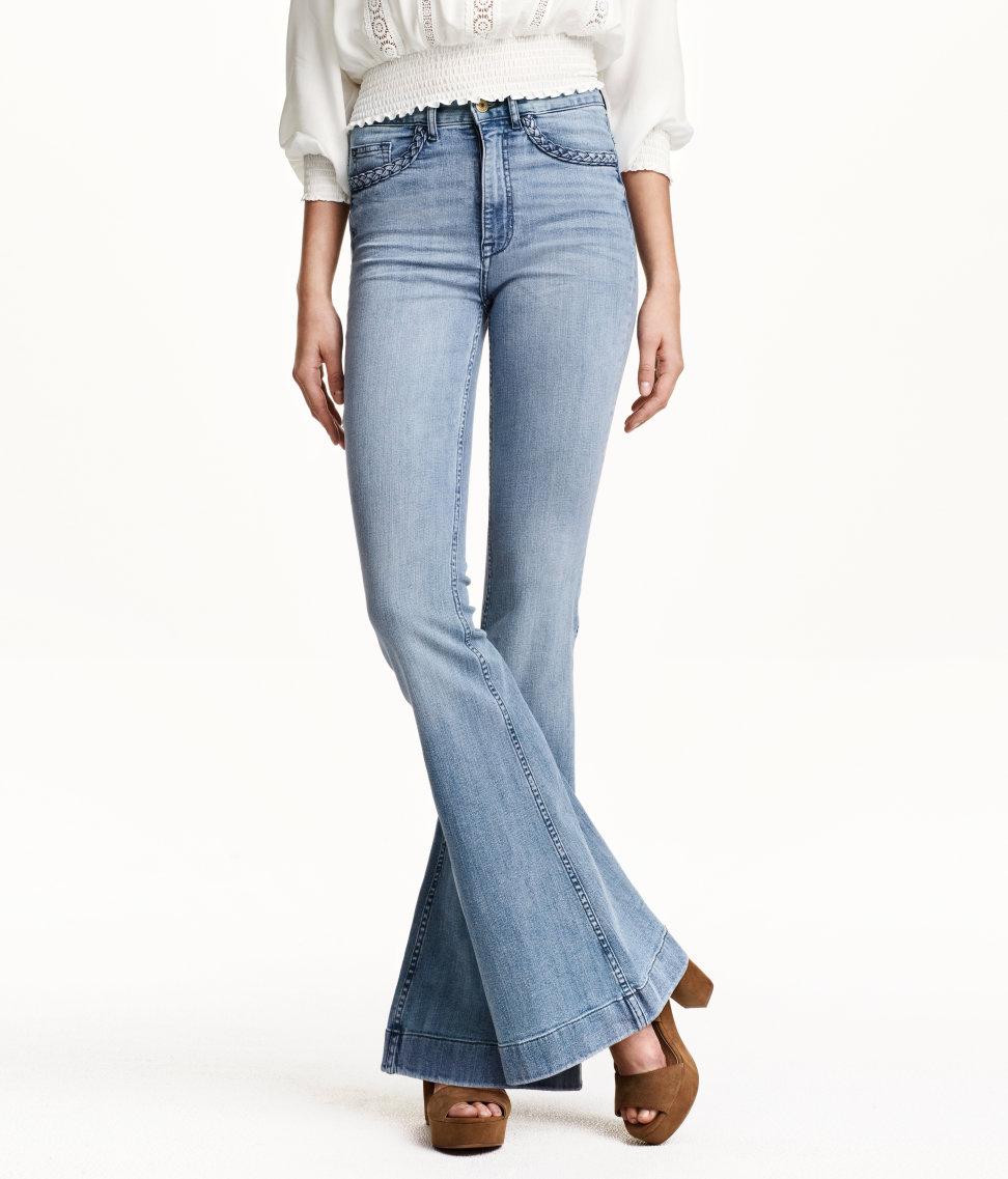 Flare High Waist Jeans | Denim blue | Women | H&M US