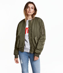 Bomber Jacket Khaki Green Women H Amp M Us