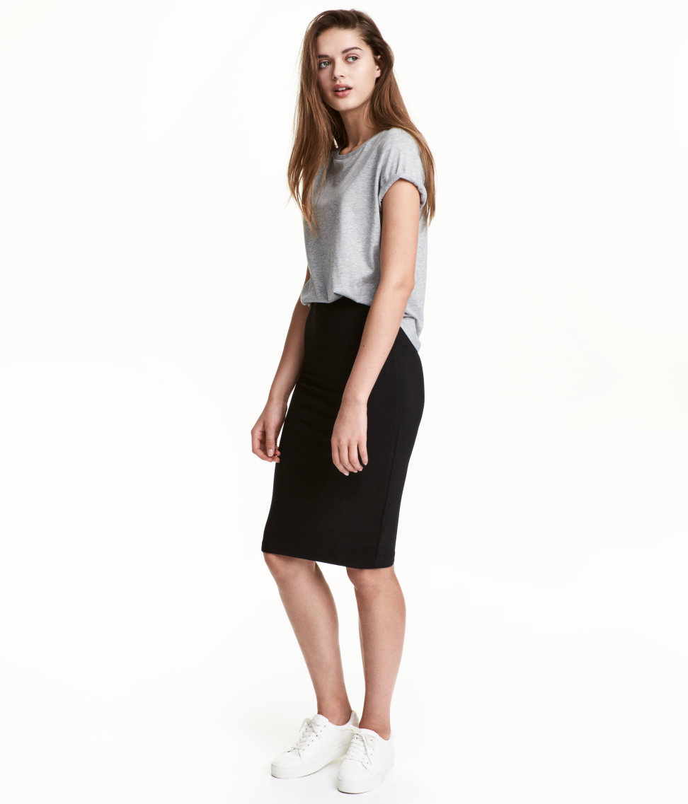Jersey Skirt | Black | Women | H&M US