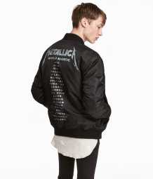Printed Bomber Jacket Black Metallica Men H Amp M Us