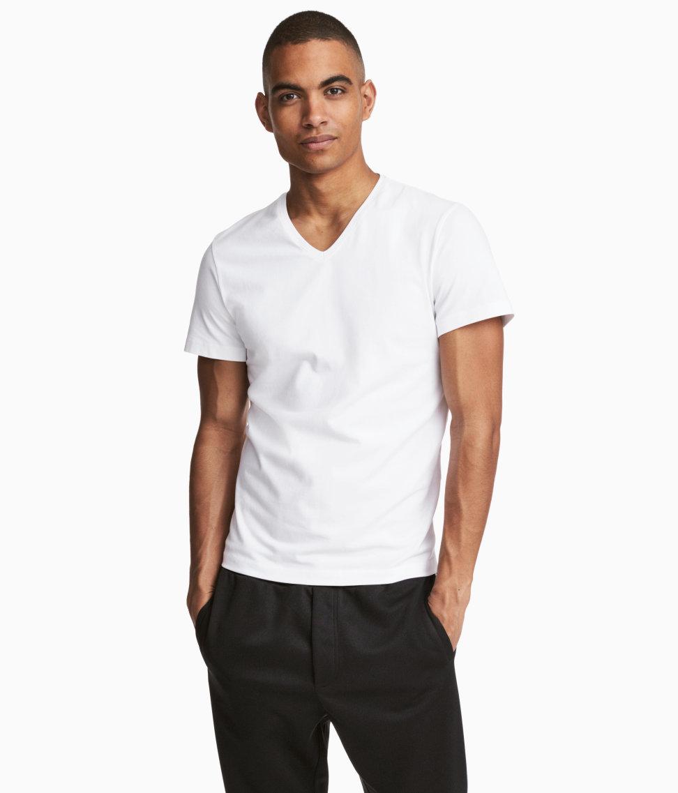 T shirt slim fit white - View Full Screen