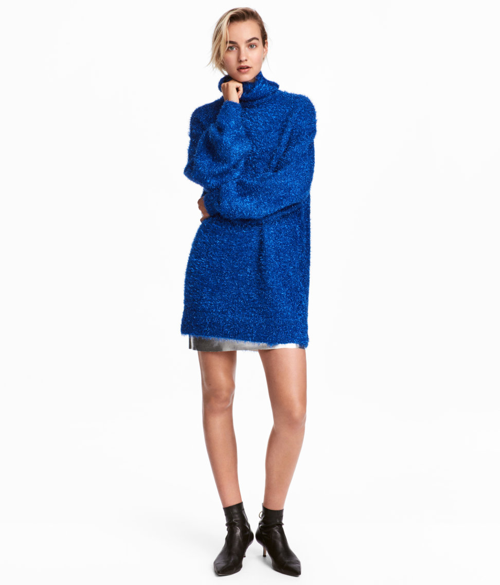 Knit Turtleneck Sweater | Bright blue | WOMEN | H&M US