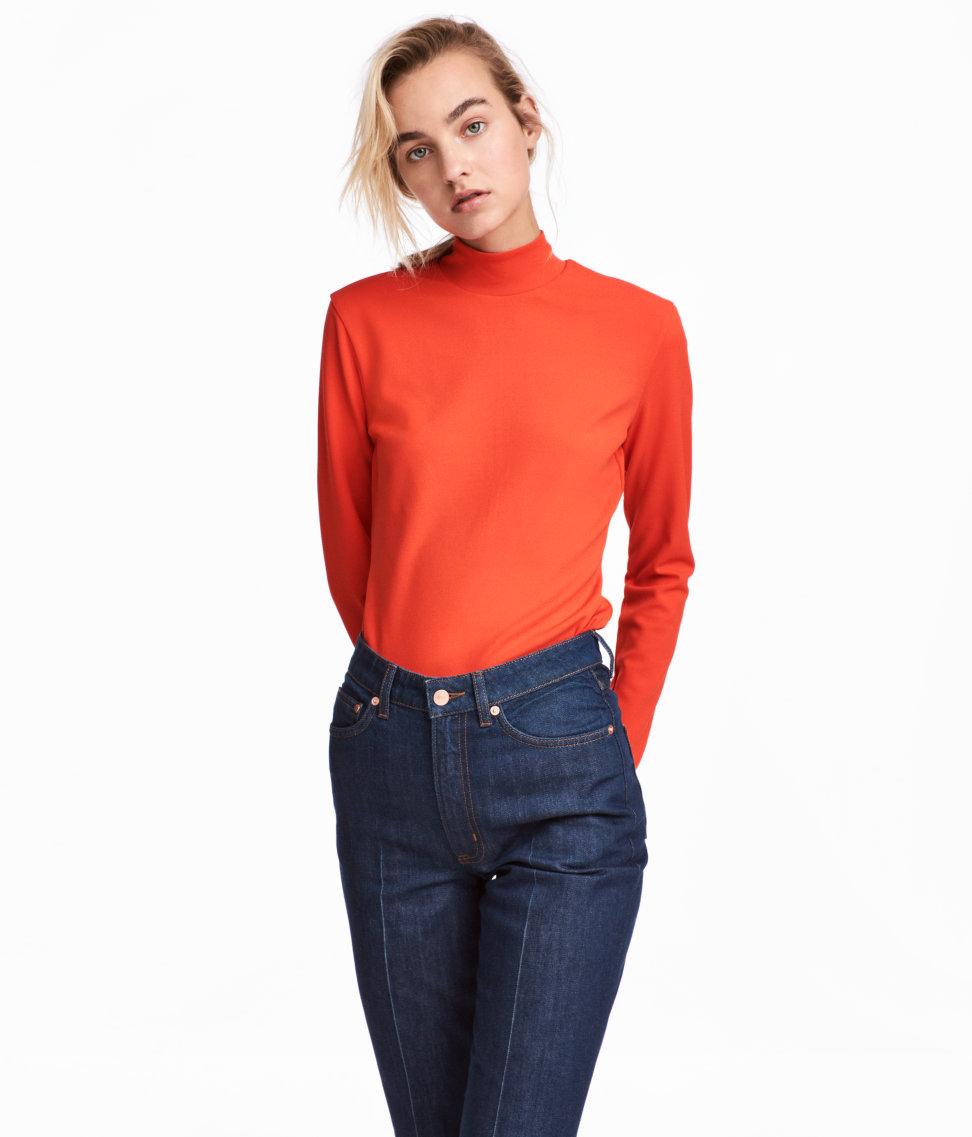 Turtleneck Sweater | Orange | SALE | H&M US