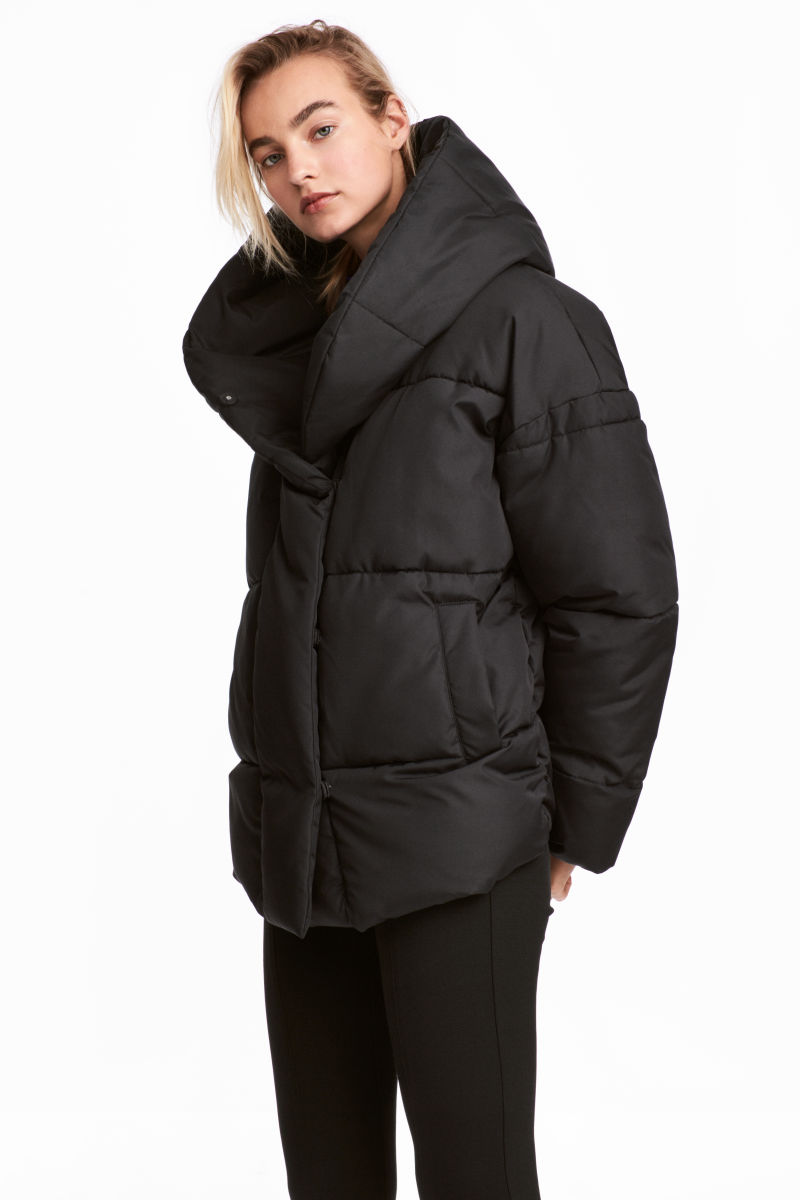 Padded Jacket with Hood | Black | SALE | H&M US