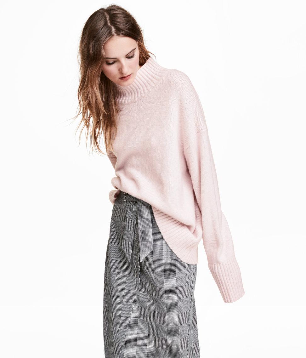 Knit Turtleneck Sweater | Powder pink | WOMEN | H&M US