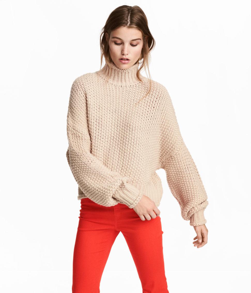 Chunky-knit Sweater | Light beige | SALE | H&M US