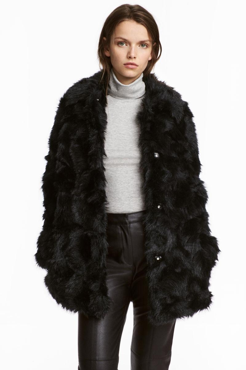 Faux Fur Jacket | Black | WOMEN | H&M US