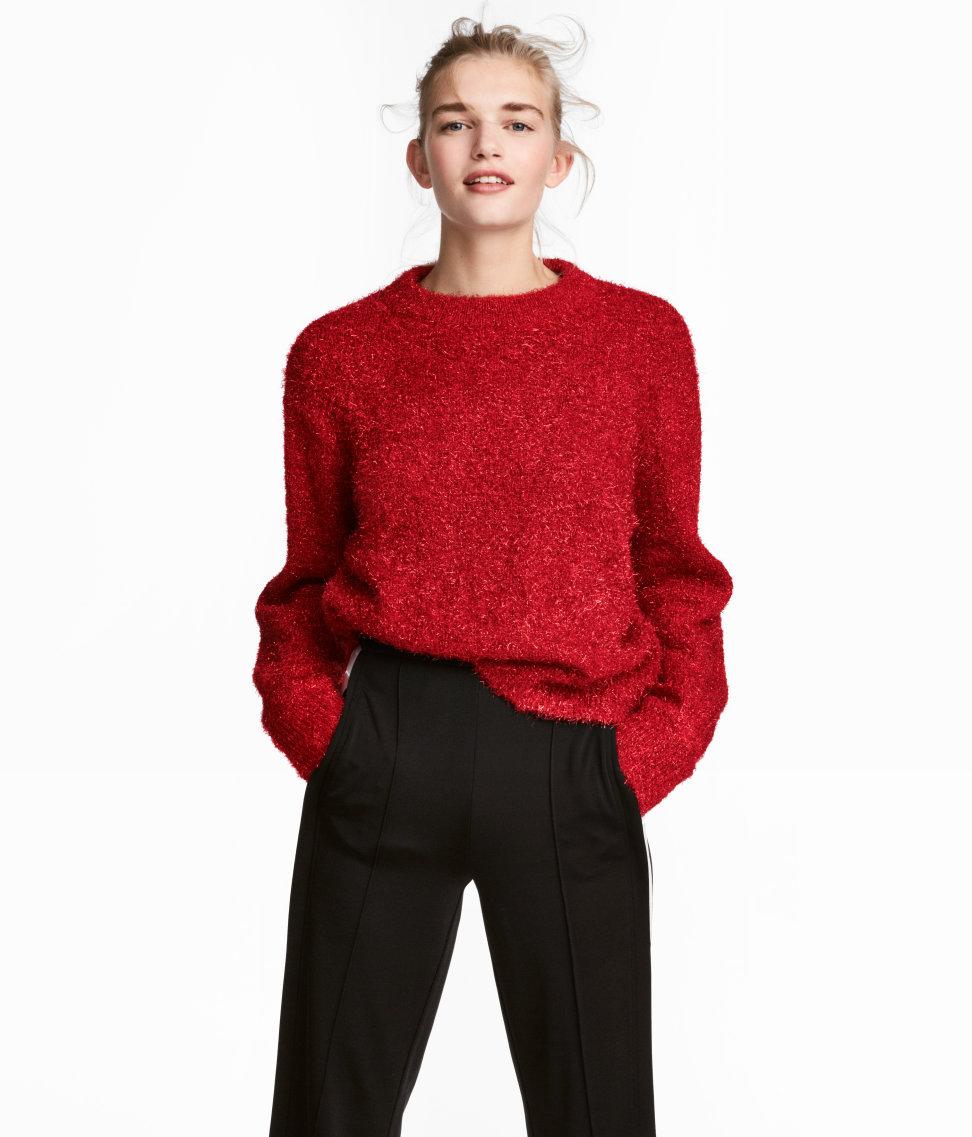 Loose-knit Sweater | Red | WOMEN | H&M US