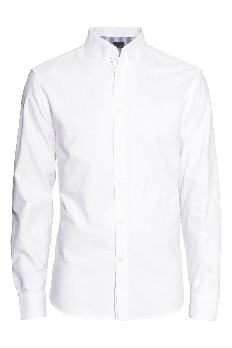 Premium Cotton Oxford Shirt | White | SALE | H&M US