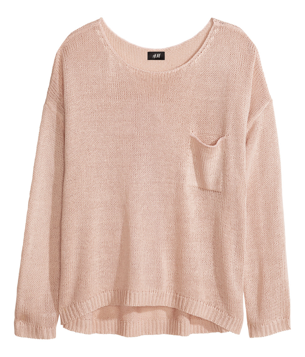 Knit Sweater | Powder pink | SALE | H&M US