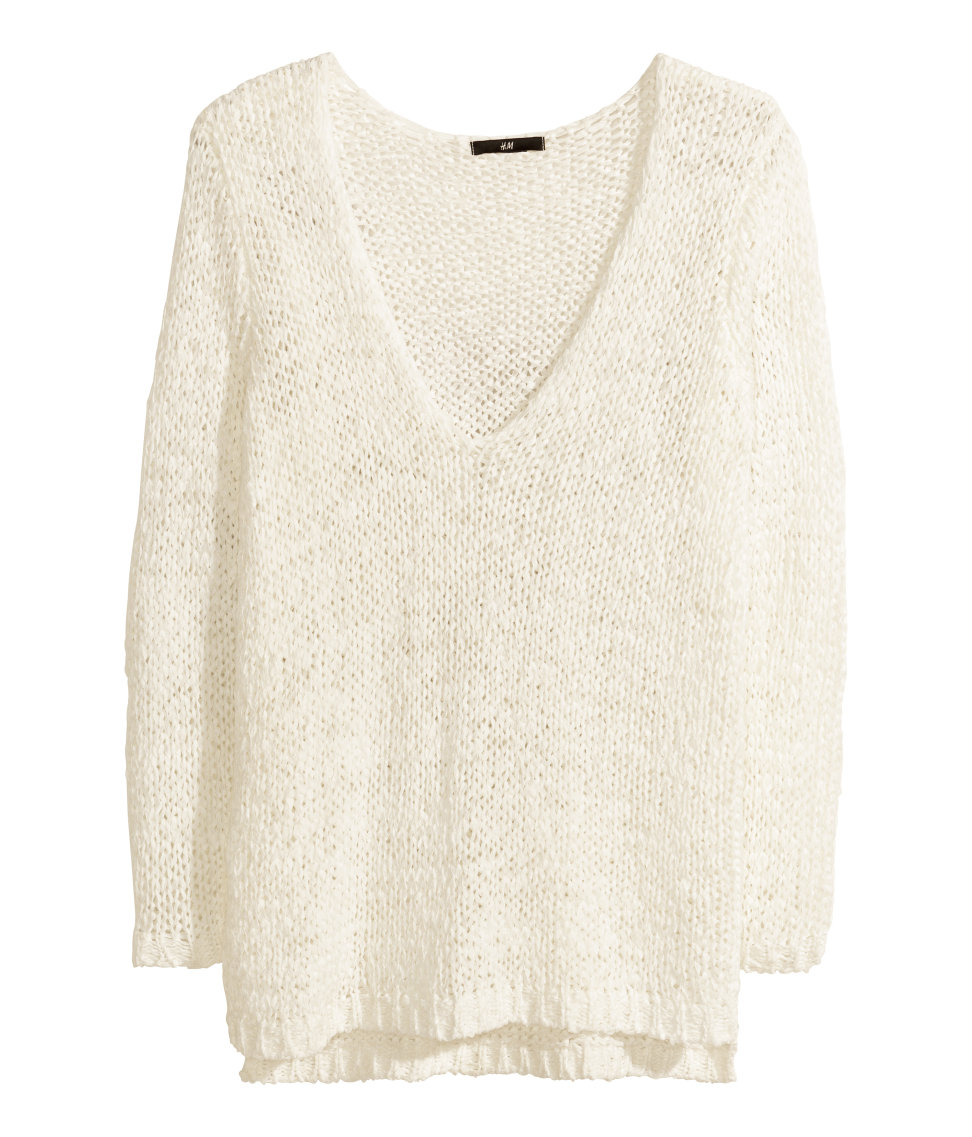 Best Fashion - White Loose Knit Sweater