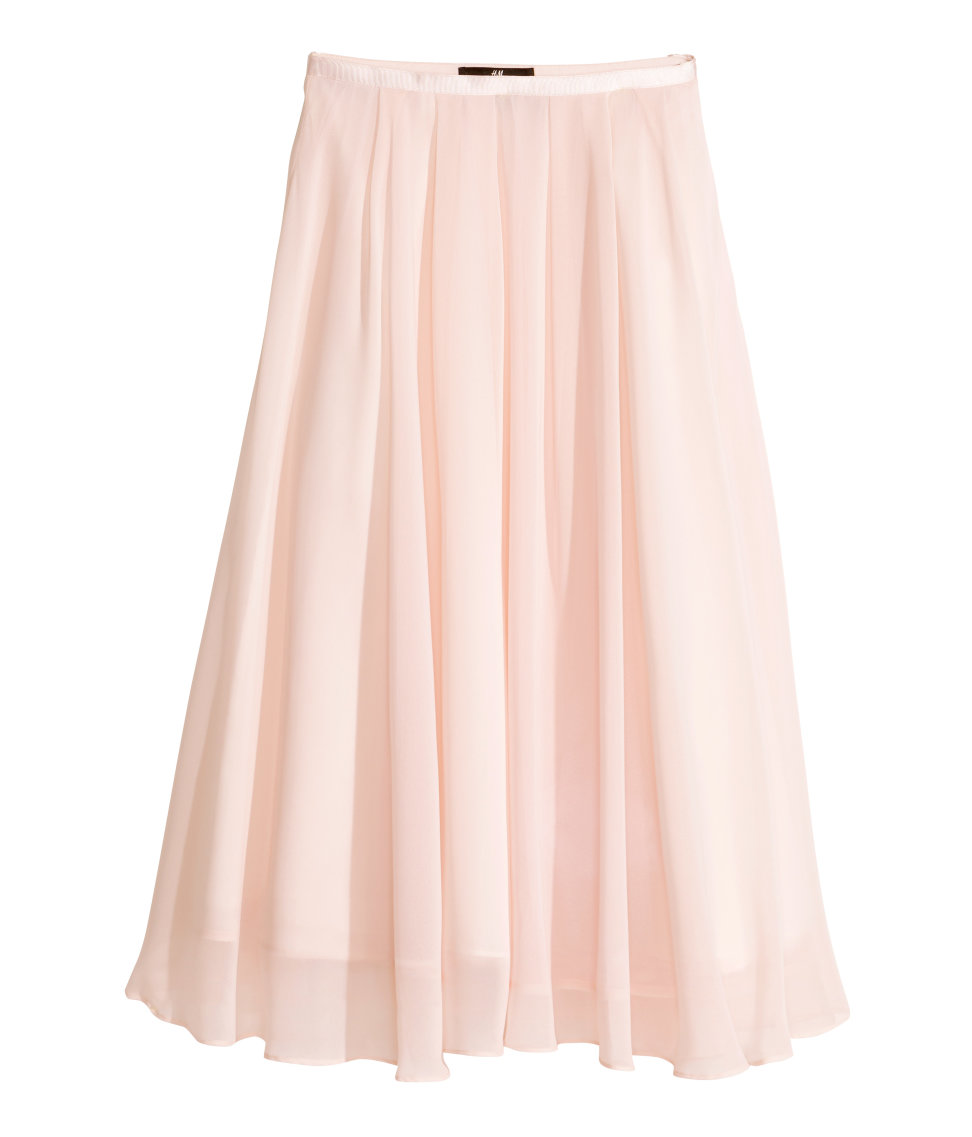 Calf-length Skirt | Light pink | Women | H&M US