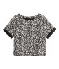 Jacquard-knit top