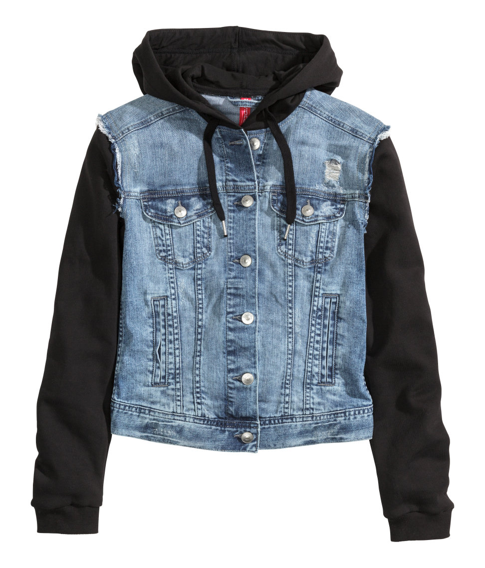 Hooded Denim Jacket | Denim blue | Women | H&M US