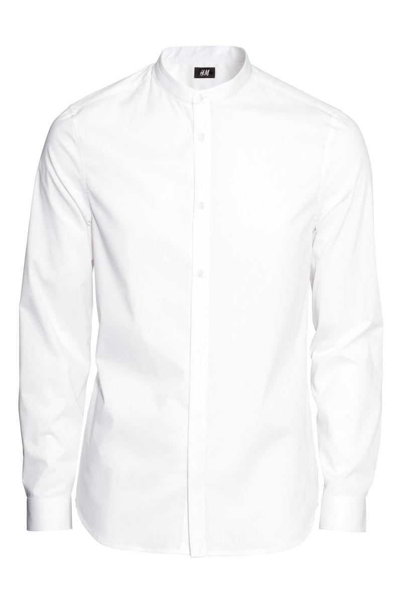 Mens White Collarless Dress Shirt South Park T Shirts