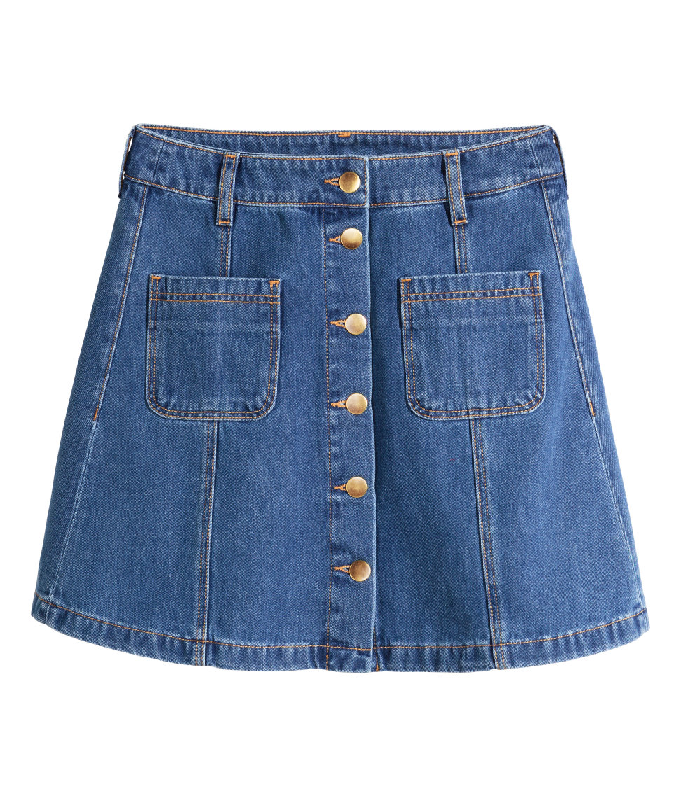 Denim Skirt | Denim blue | Women | H&M US