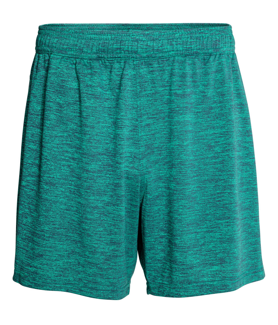 H&M - Sports Shorts - Green melange - Men