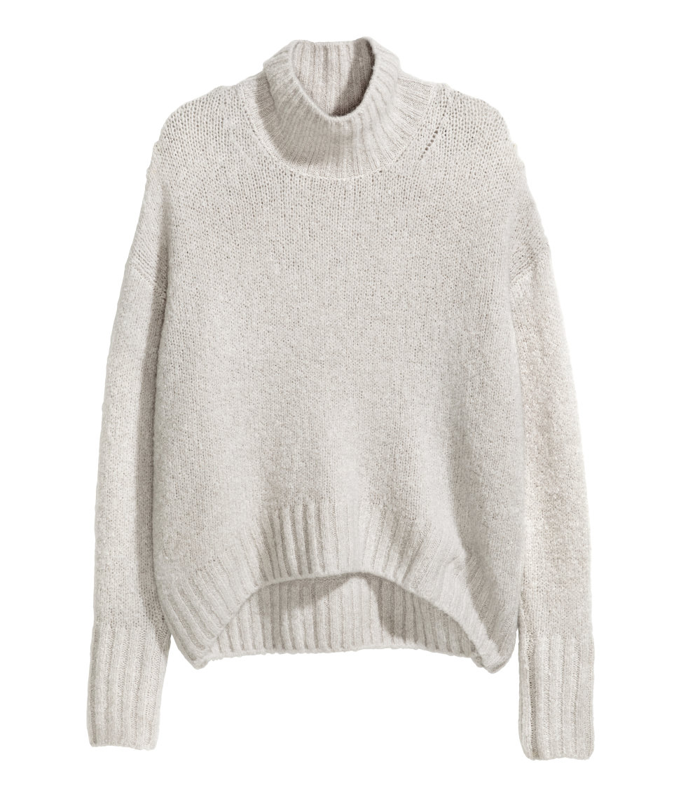 Knit Turtleneck Sweater | Light gray | SALE | H&M US