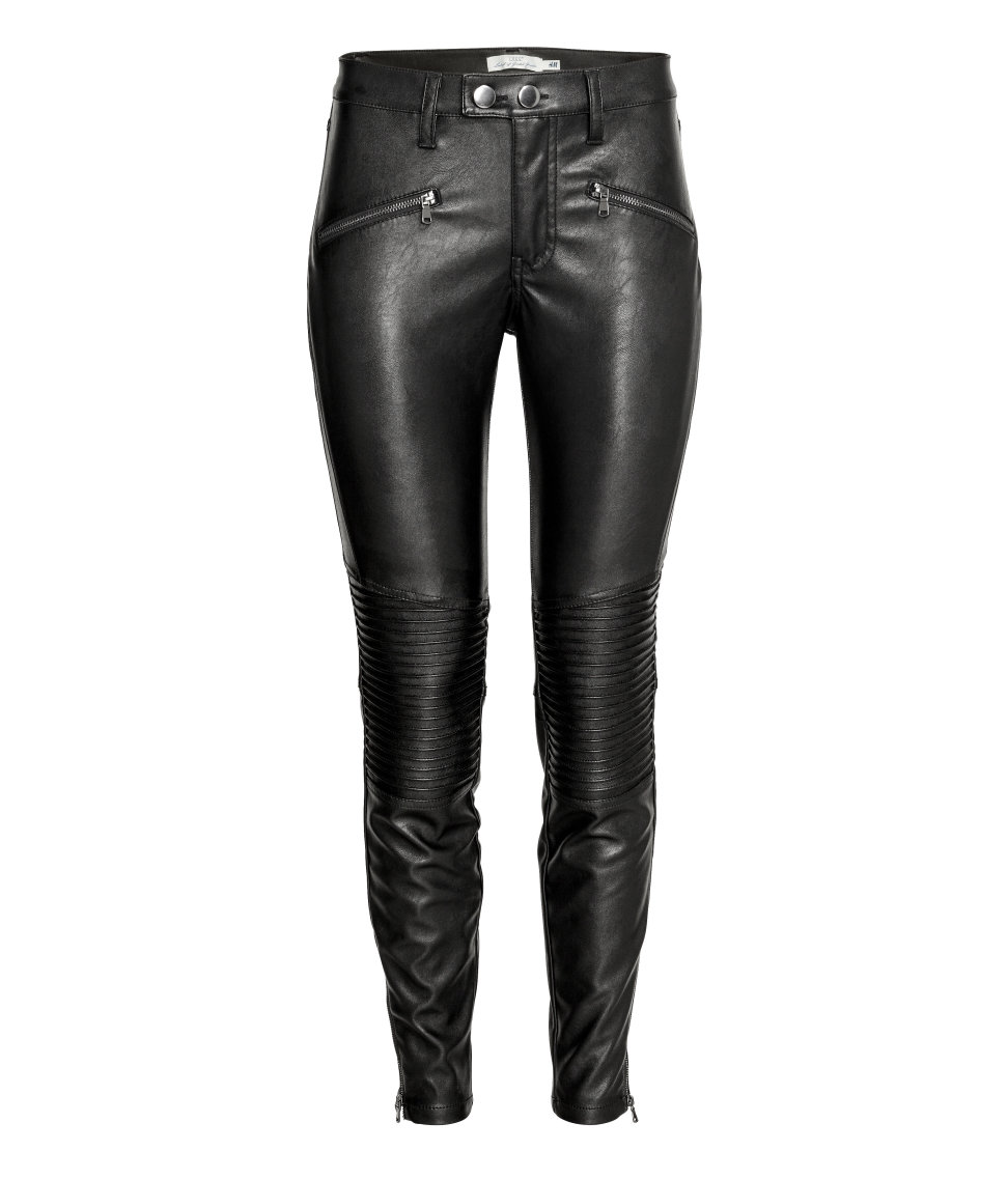 H&M - Biker Pants - Black - Ladies