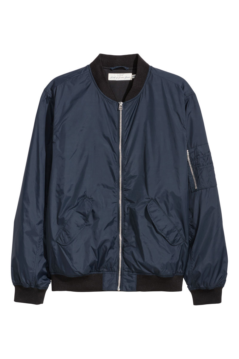 df041ae93 Navy Blue Bomber Jacket