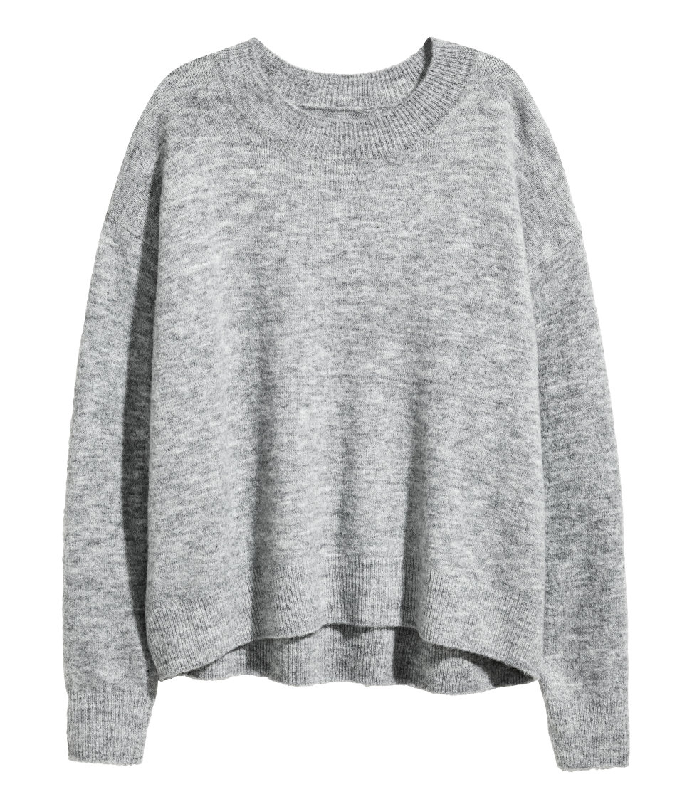 Oversized Sweater | Gray melange | SALE | H&M US