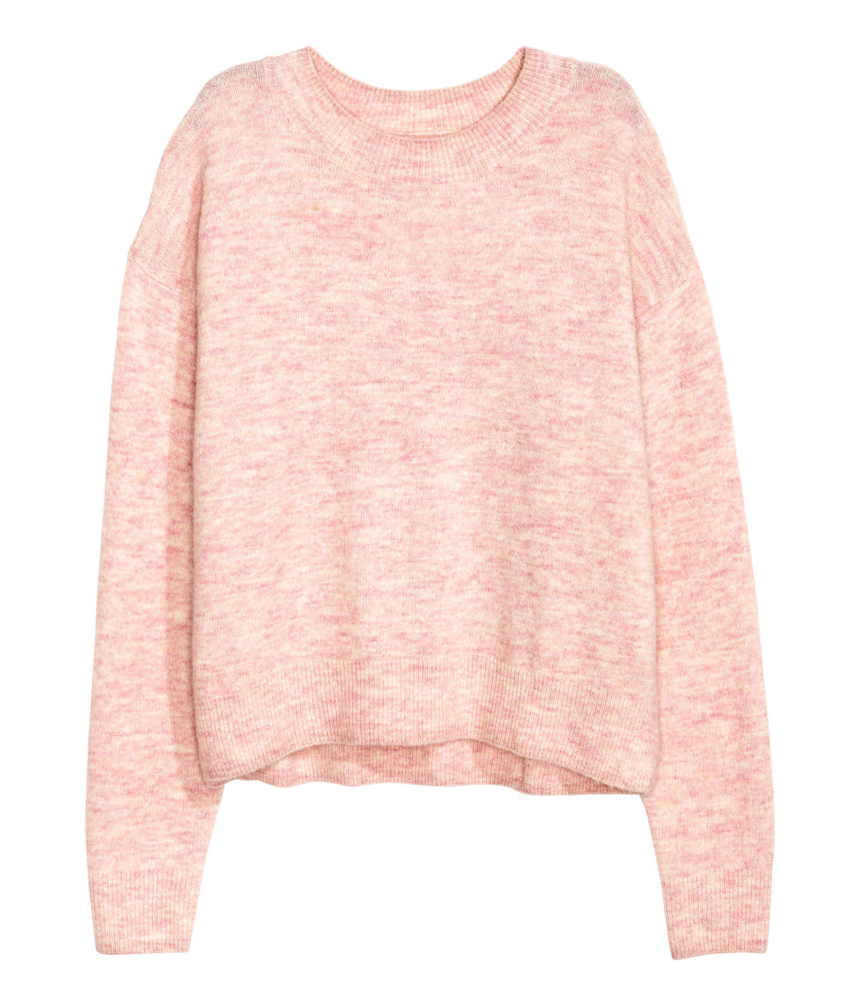 Oversized Sweater | Light pink melange | SALE | H&M US