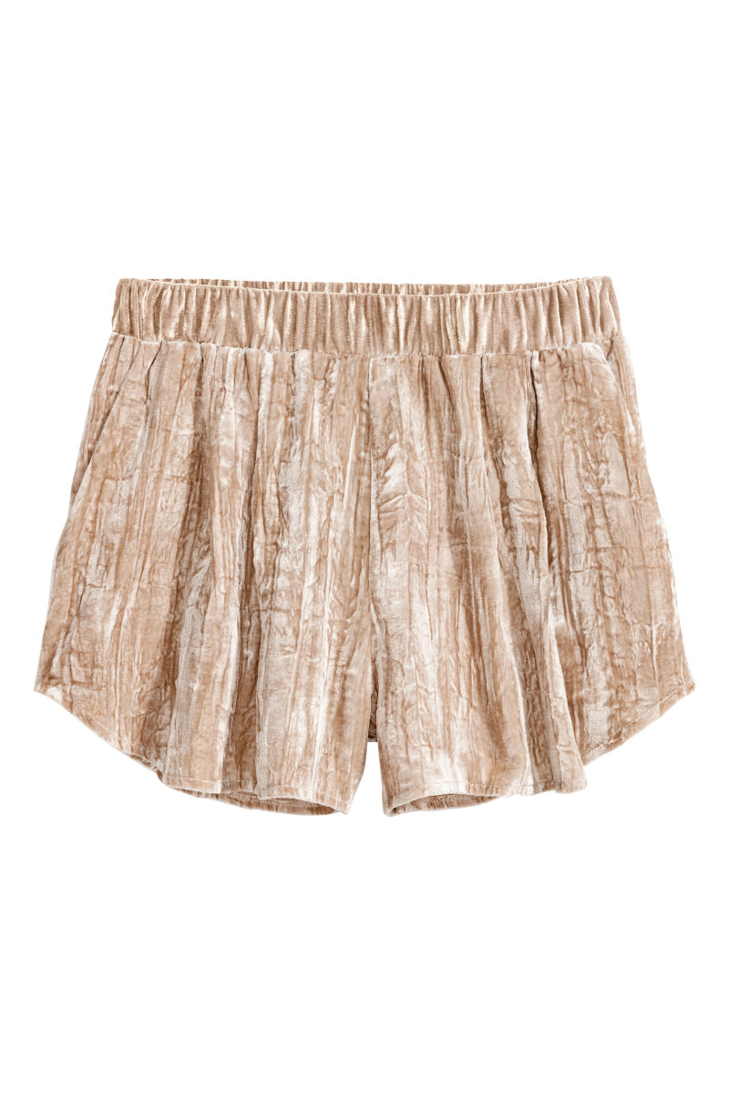 Crushed-velvet Shorts
