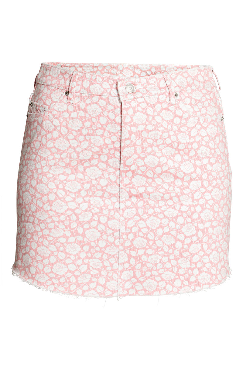 H&M+ Patterned Denim Skirt