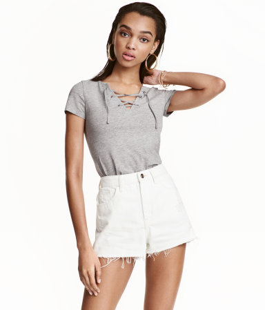 H&M Top with Lacing
