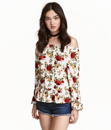 H&M Off-the-shoulder Blouse