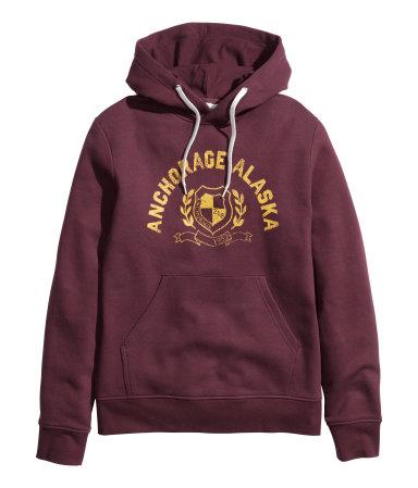 H&M - Printed Hooded Sweatshirt