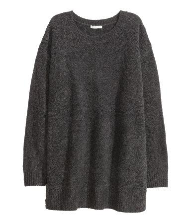 Mohair Pullover H&M grau