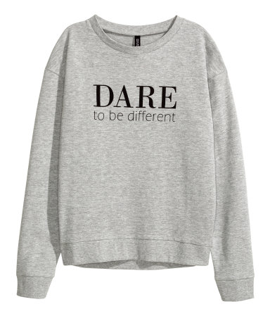 H&M Sweatshirt with Printed Design
