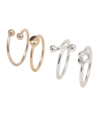 H&M 4-pack Rings