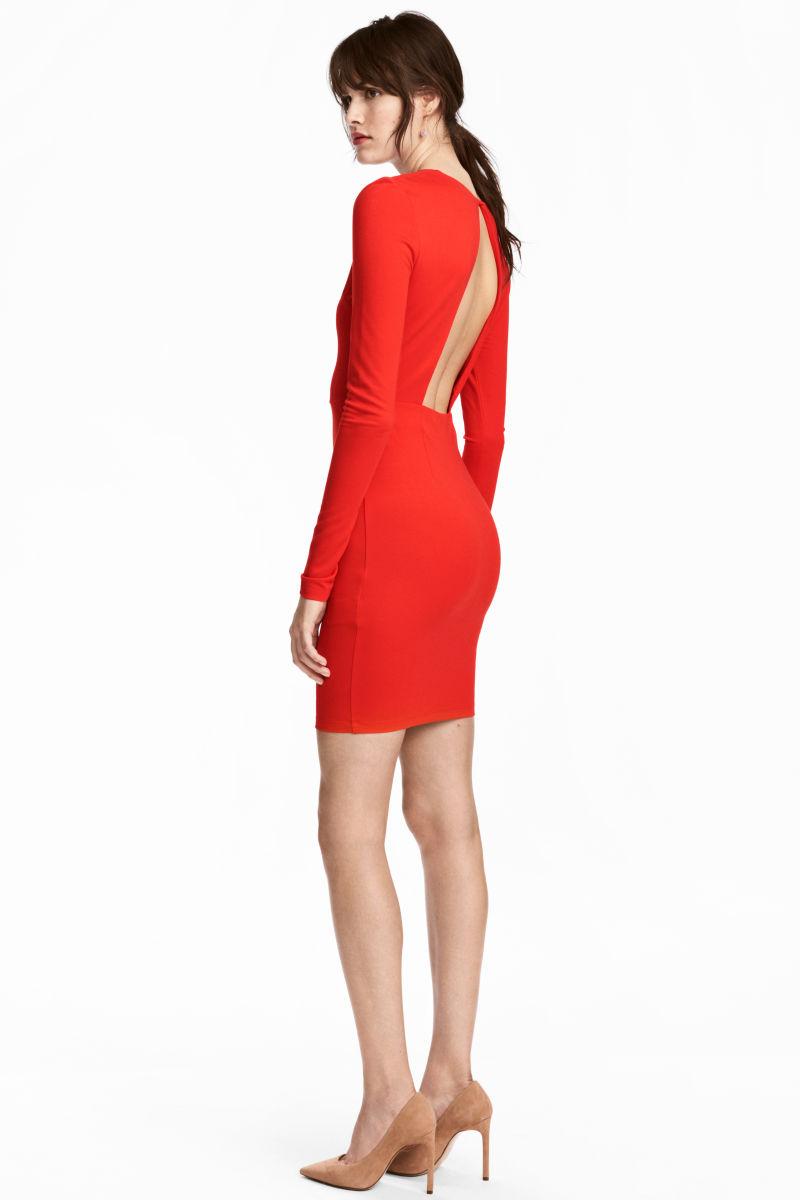 Figurbetontes Kleid | Rot | SALE | H&M DE