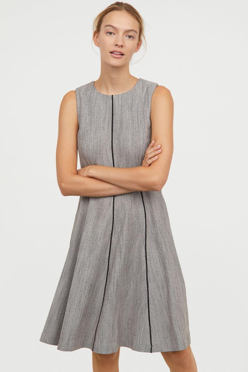 Ärmelloses Kleid | Schwarz/Weiß gemustert | DAMEN | H&M DE