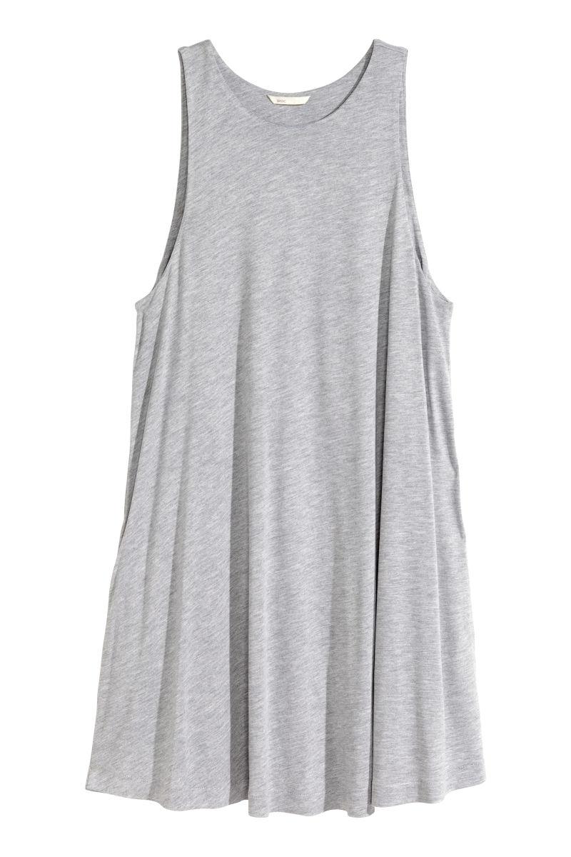 Kleid in A-Linie | Grau | SALE | H&M DE