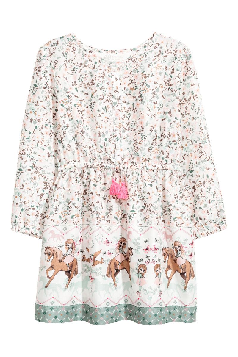 Gemustertes Kleid Naturweiss Pferde Sale H M De