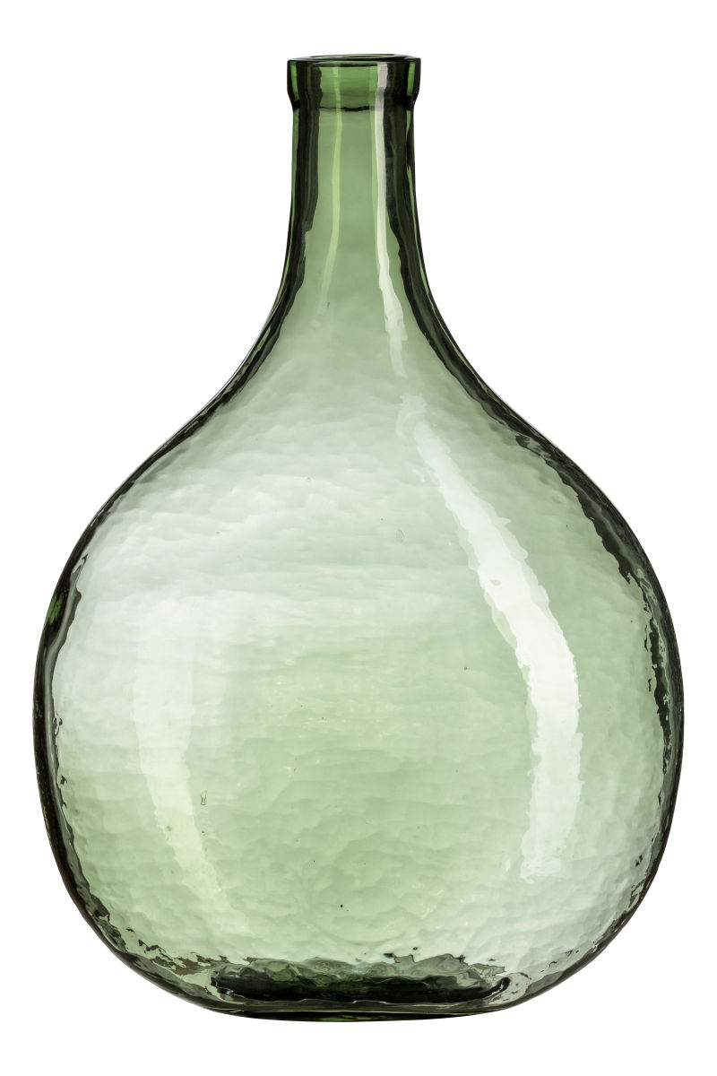vases glass green vase bottle