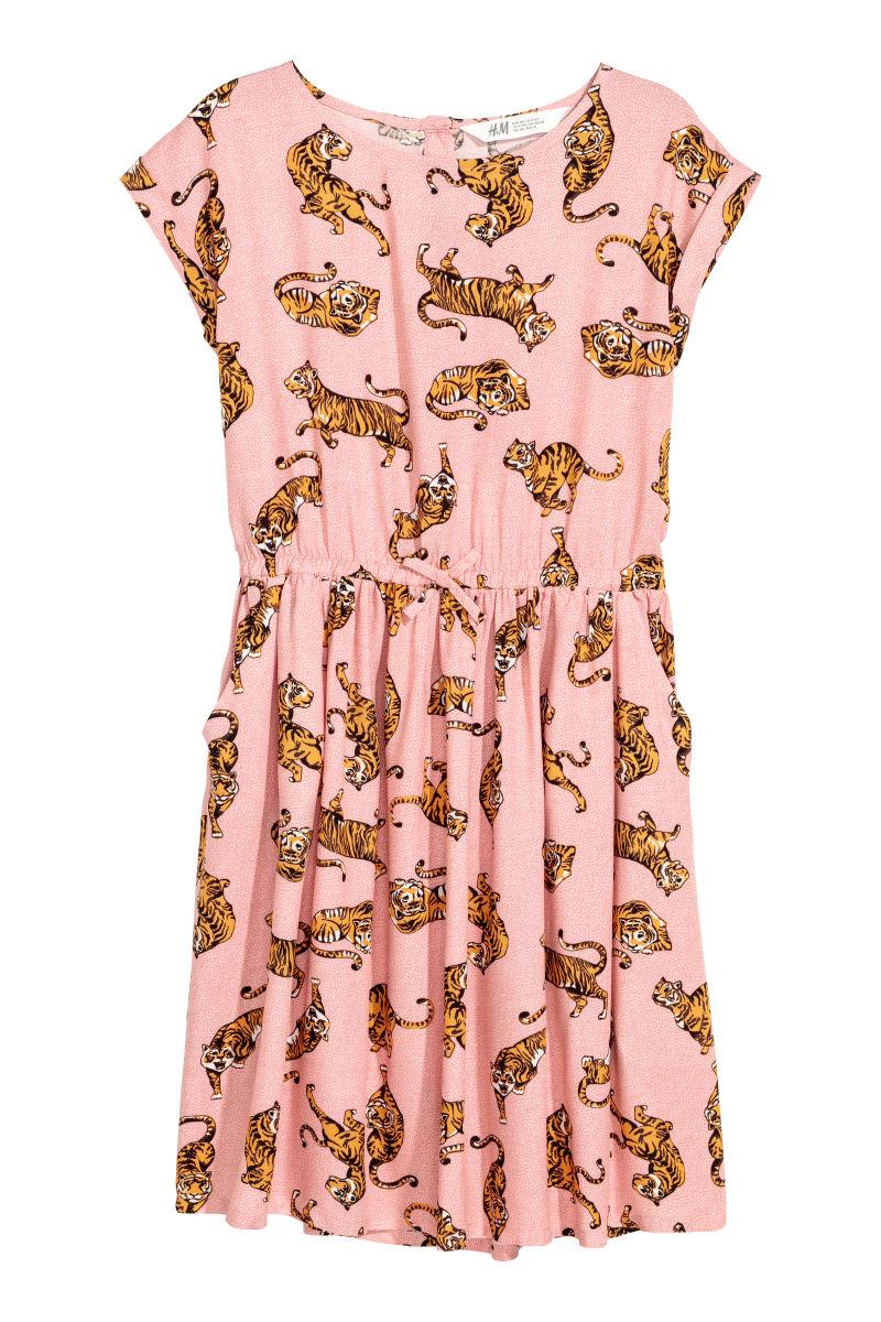 Gemustertes Kleid Rosa Tiger Sale H M De