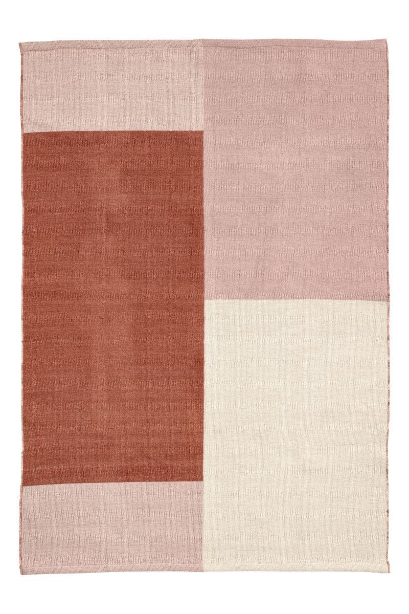 Teppich aus Wollmix   Rostbraun/Multifarbig   SALE   H&M DE