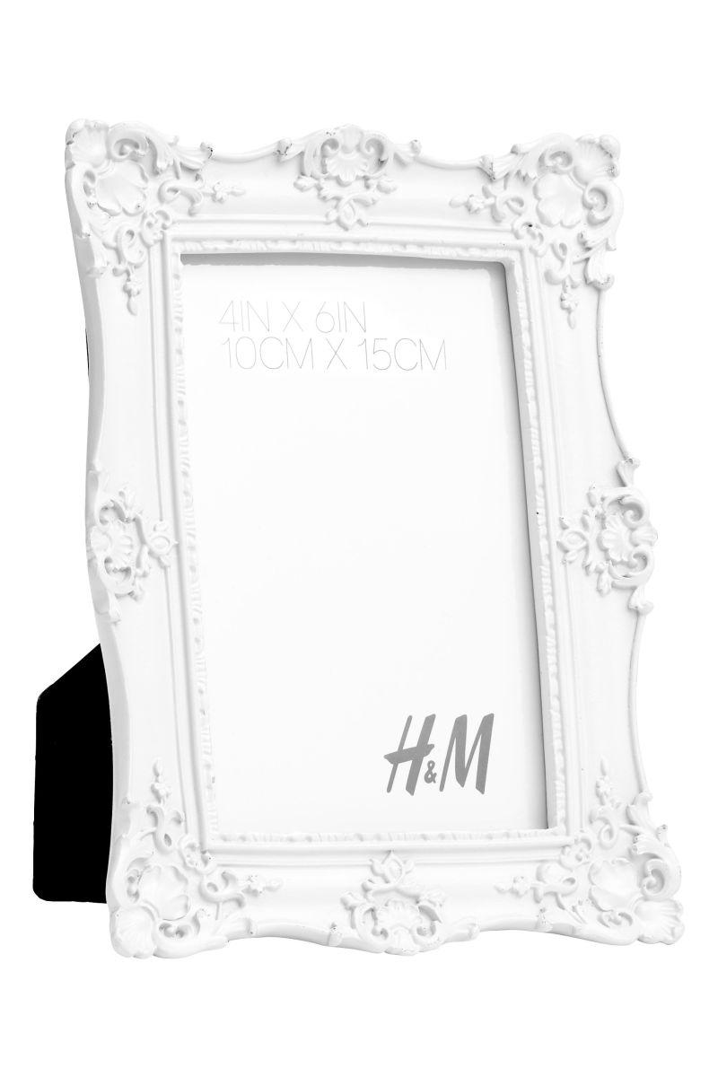 Marco de fotos | Blanco/Cuadrado | H&M HOME | H&M PE