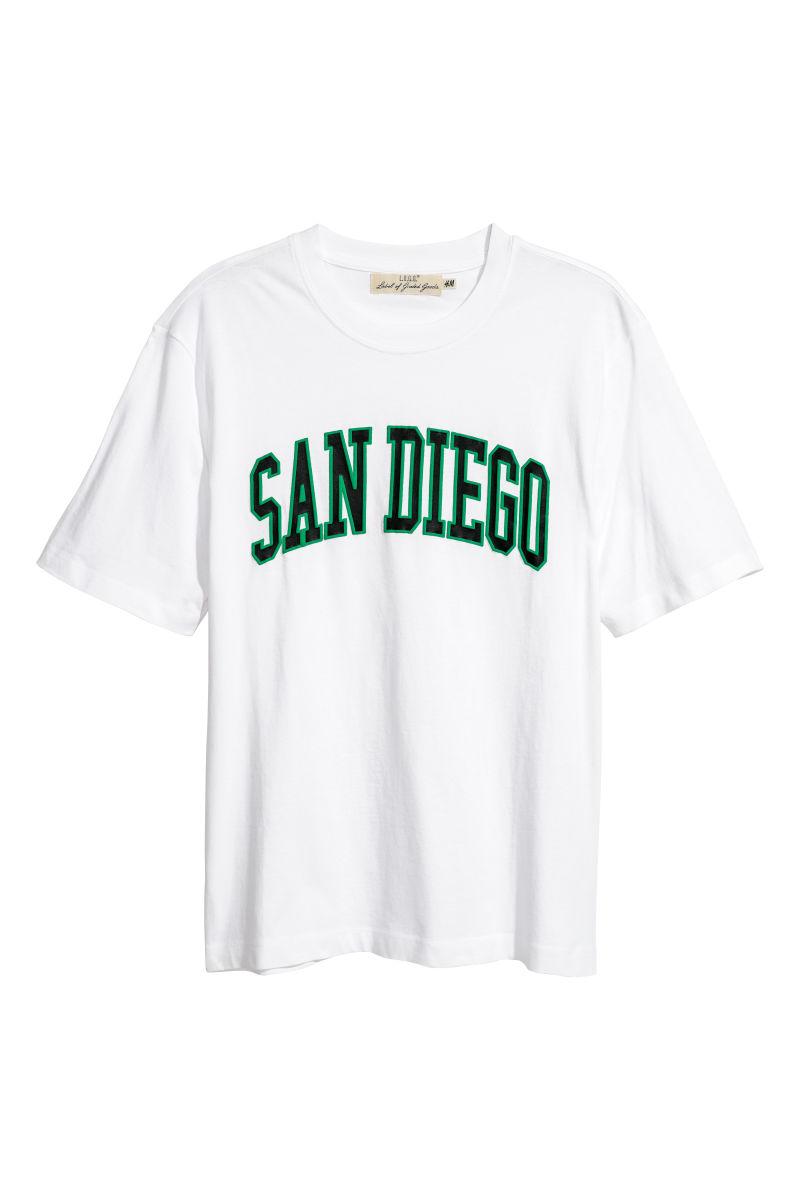 T-Shirt mit Druck | Weiß/San Diego | HERREN | H&M DE