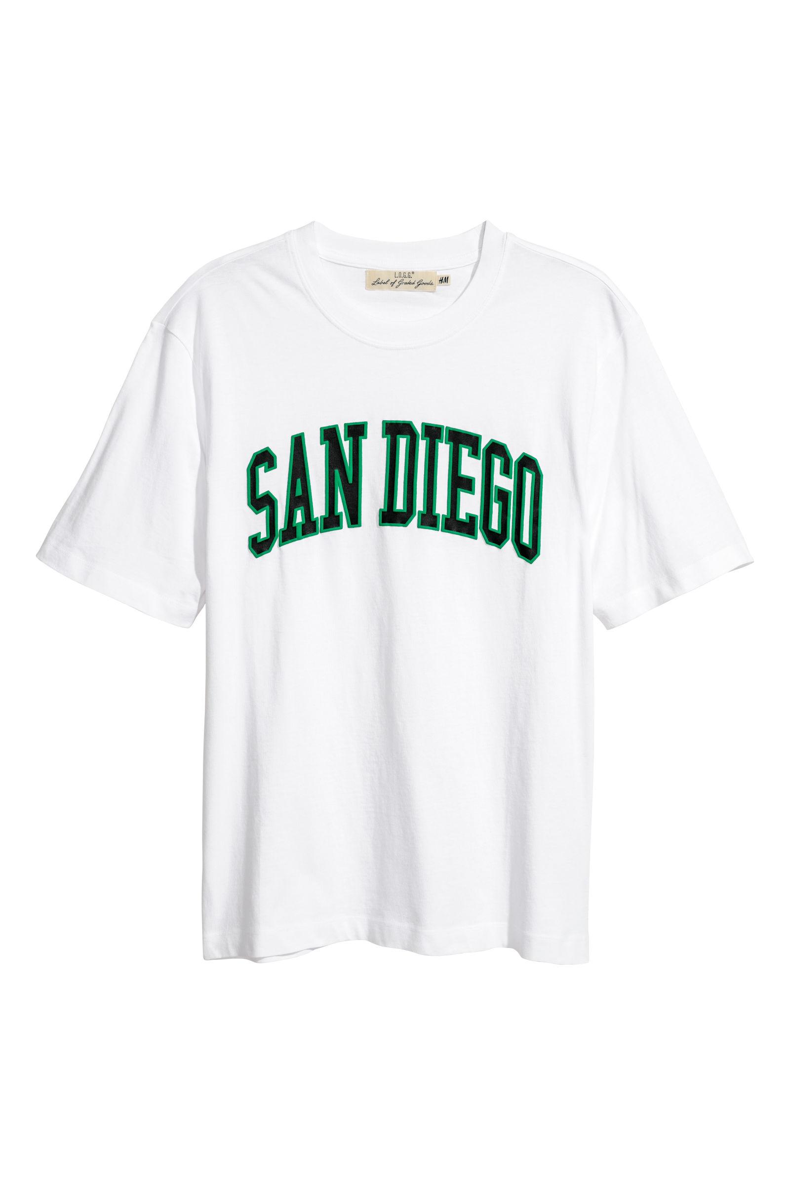 T-Shirt mit Druck   Weiß/San Diego   HERREN   H&M DE