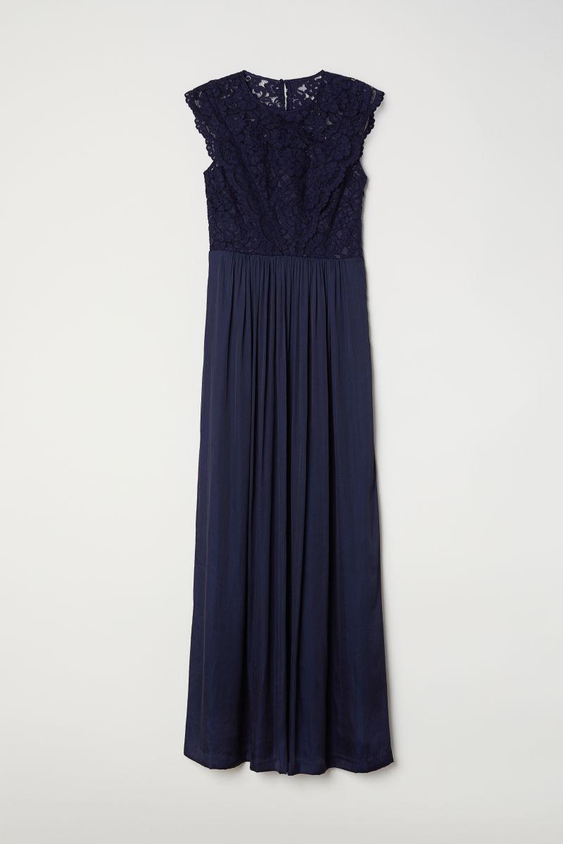 Langes Kleid | Dunkelblau | DAMEN | H&M DE